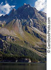 Swiss Alps and Lake Sils - Engadin Switzerland - Swiss Alps...