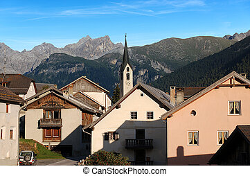 Guarda - Small Village in Engadine Switzerland - The small...