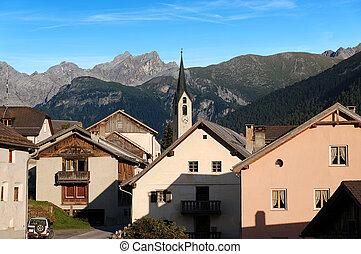 Guarda - Small Village in Engadine Switzerland - The small...