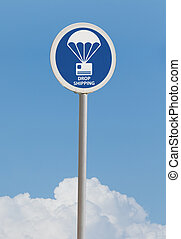 Drop shipping street sign - Blue drop shipping street sign