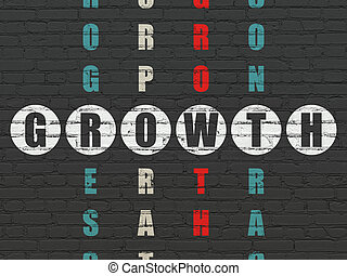 Business concept: Growth in Crossword Puzzle