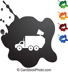Garbage Truck - French Fries web button isolated on a...