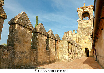 Cordova. Royal palace of the cristian kings - Stone walls...
