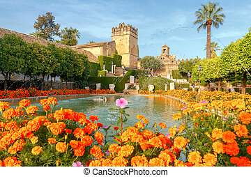 Cordova. Royal palace of the cristian kings - Flowering...