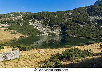 Landscape of Yonchevo lake,  Rila Mountain, Bulgaria