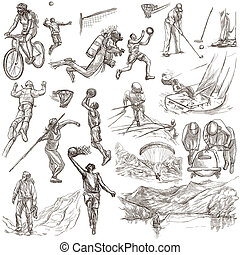 Sport - collection of an hand drawn illustrations - SPORTS....