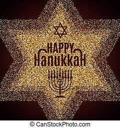 Happy Hanukkah greeting card. - Happy Hanukkah greeting card...