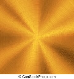 Gold Metal Background - Gold abstract technology background...