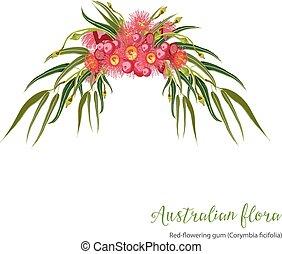 Red flowering Gumtree Design - Red-flowering gum tree...