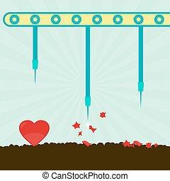 Heart bursting machine