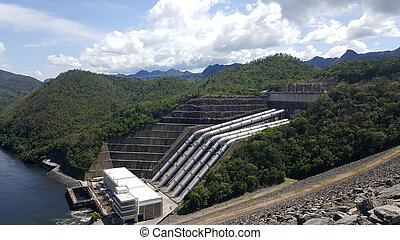 Srinakarin Dam Kanchanaburi - Dams for power generation,...