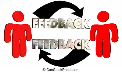 Feedback People Talking Sharing Opinions Comments 3d Illustration