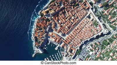 Aerial view of Old Town of Dubrovnik, Croatia
