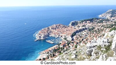 top view of Old Town of Dubrovnik, Croatia