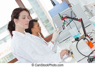 scientist woman in lab coat