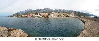 Karlobag Panoramic View - Town in Croatia, Karlobag Panorama...