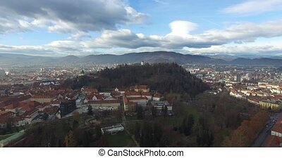 Aerial view of Graz, Austria