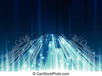 Abstract future technology concept background, vector...