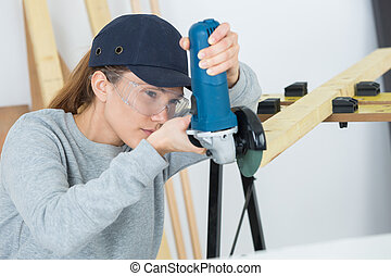 woman artisan builder