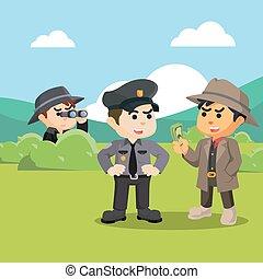 spy investigating corrupt police