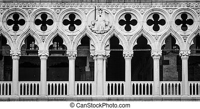 Venice, Italy - Palazzo Ducale detail - Detail of the most...