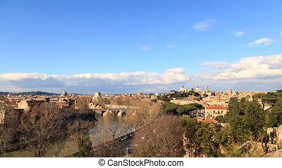 River Tibr, view from the Giardino degli Aranci. Rome,...
