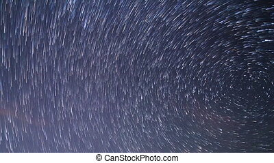 Star tracks. Time Lapse