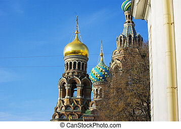 Detail of the Our Saviour on Spilled Blood cathedral in...