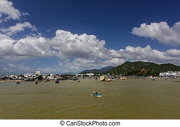 Muddy River View - A view over the river in Nha Trang...