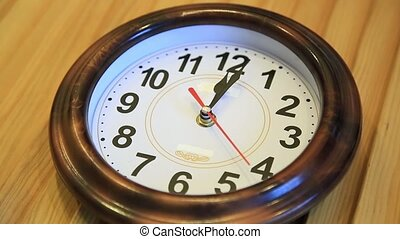 Time lapse Time flies. Time runs fast on the wall clock....