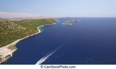 aerial view of the National park Kornati, Kornati...