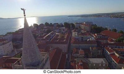 Aerial view of the city of Zadar.
