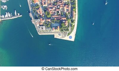 Aerial view of the city of Zadar. - Aerial view of the city...