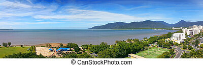 view of Cairns esplanade - A panorama view of Cairns...