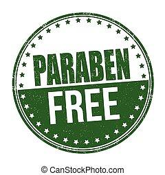 Paraben free sign or stamp - Paraben free grunge rubber...
