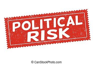 Political risk sign or stamp - Political risk grunge rubber...