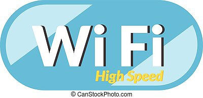 High speed WiFi icon is basic vector icon, EPS10.