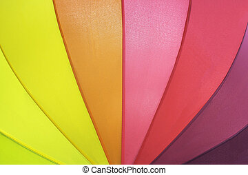 Umbrella pattern background - Closeup rainbow colored summer...