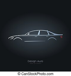 Illustration of abstract car.