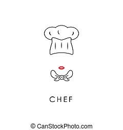 Female chef icon.
