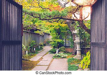 garden Japan - The door Japanese style with garden inside in...