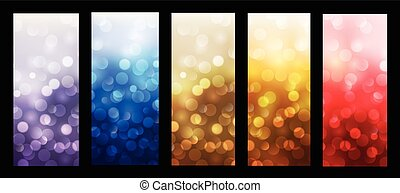 Abstract backgrounds blinking bokeh vector design