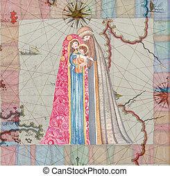 Natale,  scene:, Cristo, gesù, natività, Giuseppe,  Mary