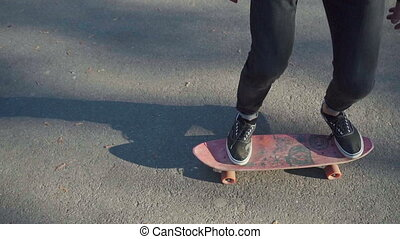 Teenager hold a skateboard - Teenager holding a skateboard...