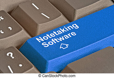 Key for notetaking software