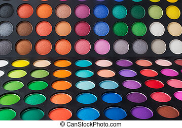 set of eye shadows