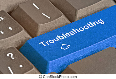 Blue key for troubleshooting
