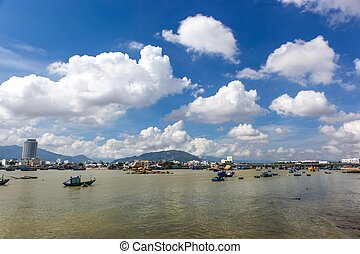 Nha Trang Harbour View - A view over the river in Nha Trang...