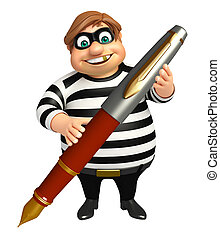 Thief with Pen