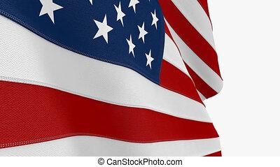 Seamless Looping Animated USA flag.